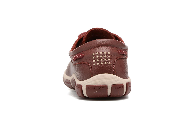 Zapatos con cordones TBS Jazaru Vino vista lateral derecha