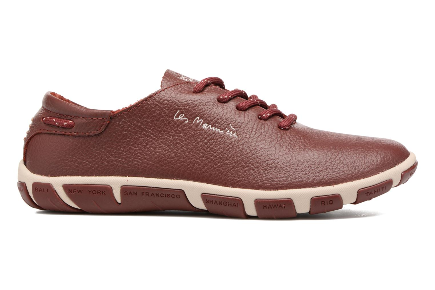 Lace-up shoes TBS Jazaru Burgundy back view