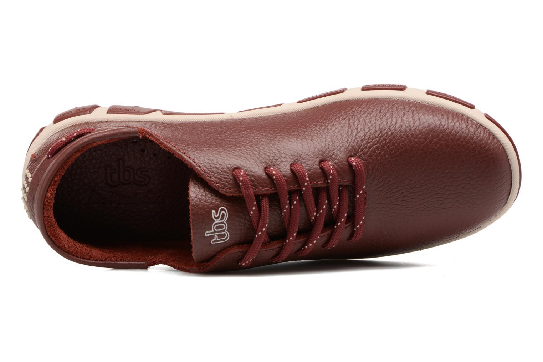 Zapatos con cordones TBS Jazaru Vino vista lateral izquierda