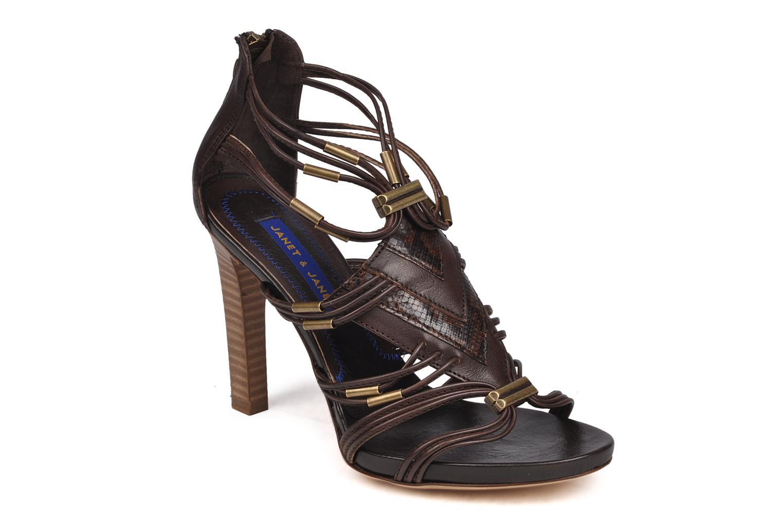 Sandales et nu-pieds Janet & Janet Gassman Marron vue détail/paire