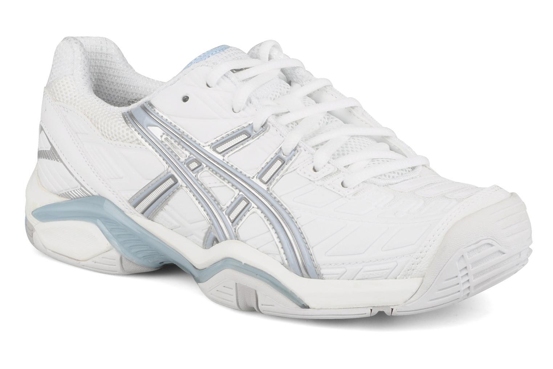 Lady gel challenger 8 White/misty blue/silver