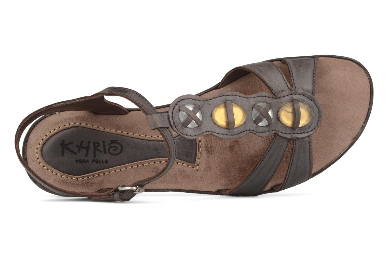 Sandales et nu-pieds Khrio Shelby Marron vue gauche