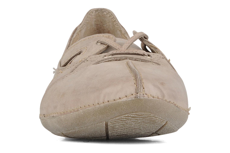 Ballerines Khrio Gabana Beige vue portées chaussures