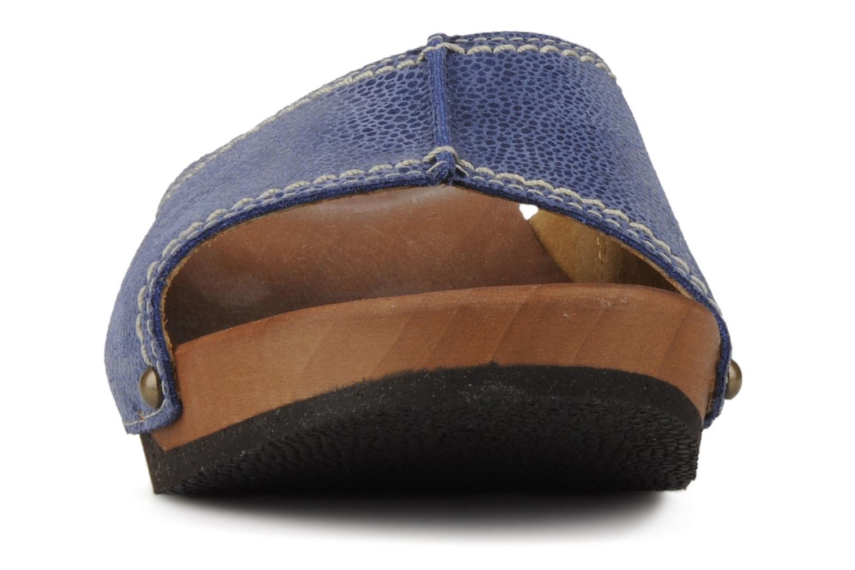 Mules et sabots Giesswein Doren Bleu vue portées chaussures