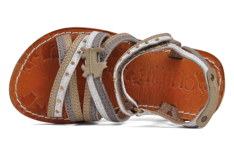 Sandales et nu-pieds chipie bis Savana Gris vue gauche