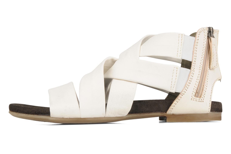 Sandales et nu-pieds Manas Lazos Blanc vue face