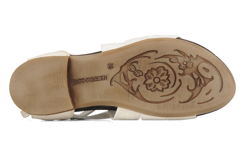 Sandales et nu-pieds Manas Lazos Blanc vue haut