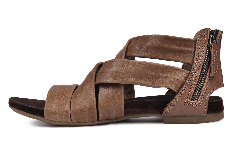 Sandales et nu-pieds Manas Lazos Gris vue face