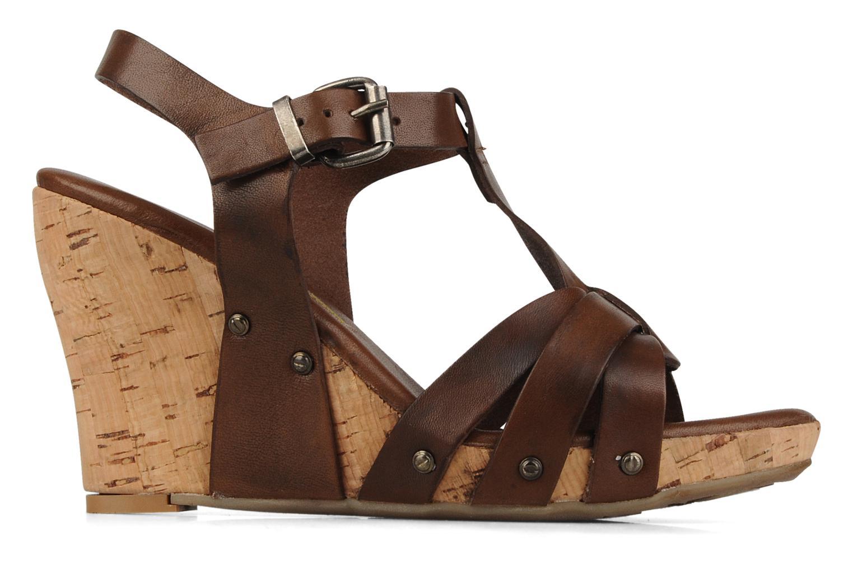 Sandales et nu-pieds Manas Valenta Marron vue derrière