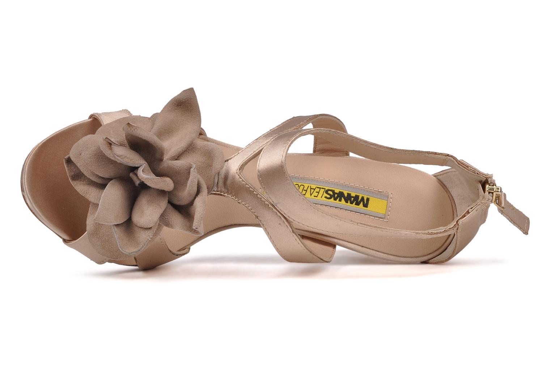 Sandales et nu-pieds Manas Floralia Rose vue gauche