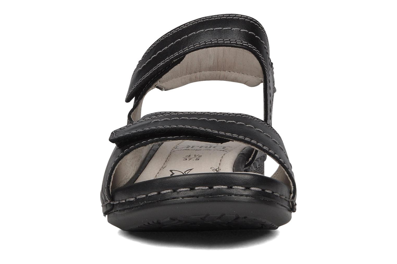 Sandales et nu-pieds Caprice Lysandra Noir vue portées chaussures