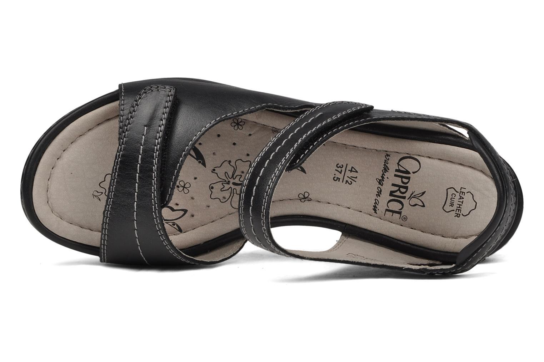 Sandales et nu-pieds Caprice Lysandra Noir vue gauche