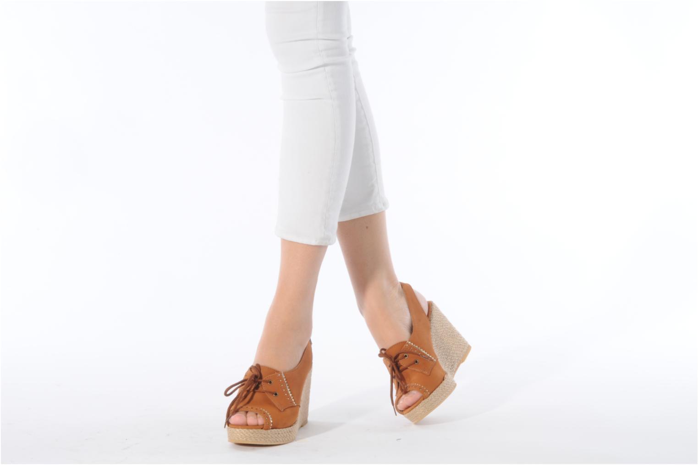Sandales et nu-pieds Pare Gabia Climone Marron vue bas / vue portée sac