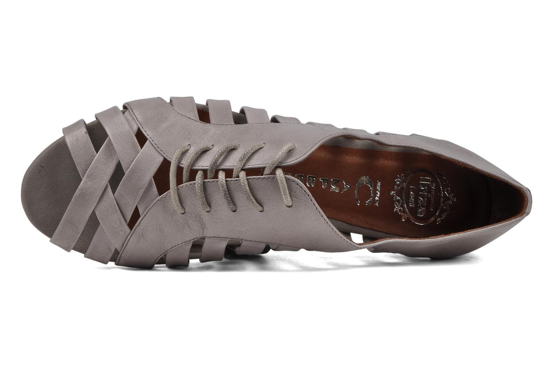 Zapatos con cordones Jeffrey Campbell Hoyt Gris vista lateral izquierda