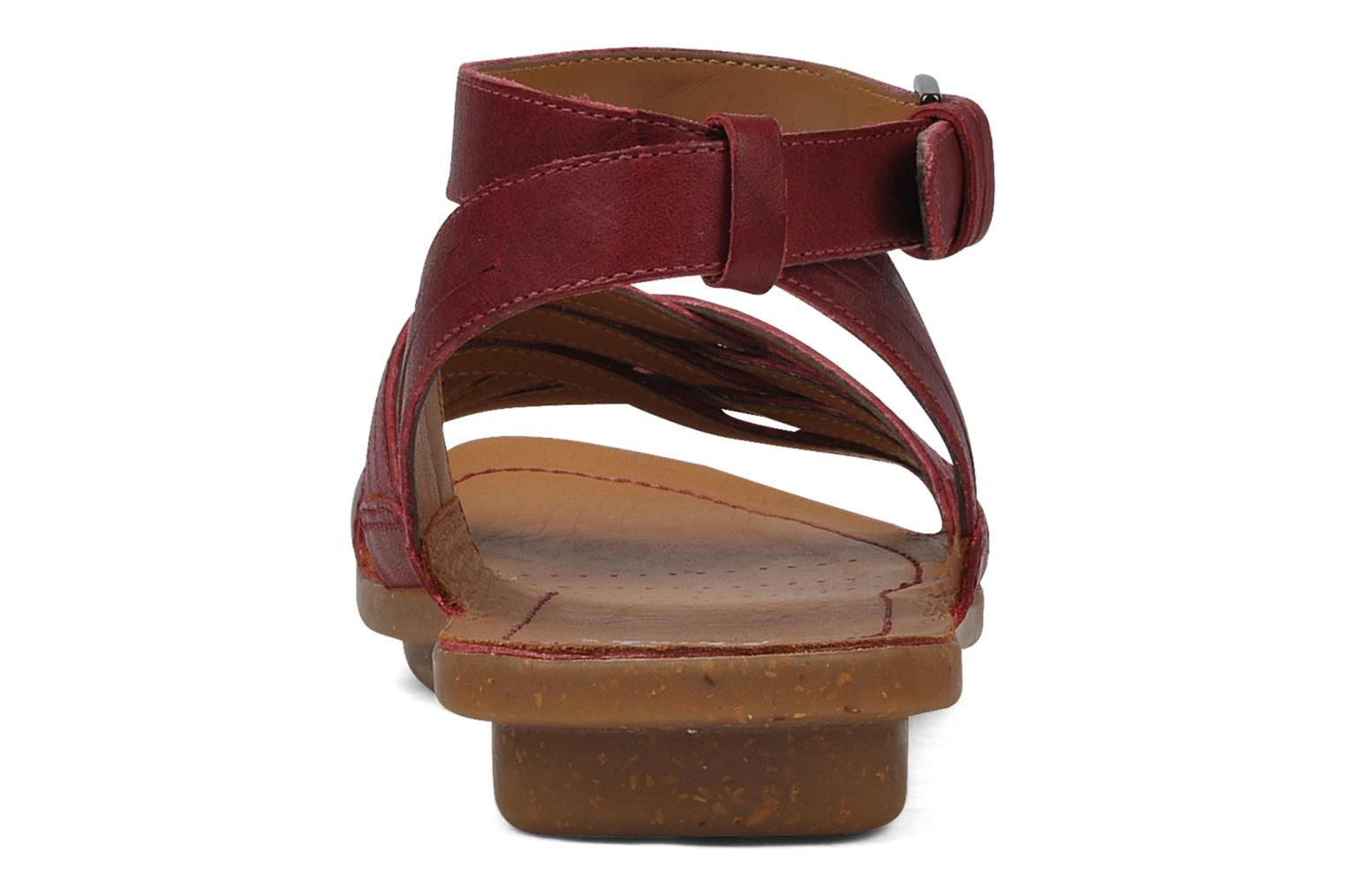 Sandals Clarks Powder mist Red view from the right