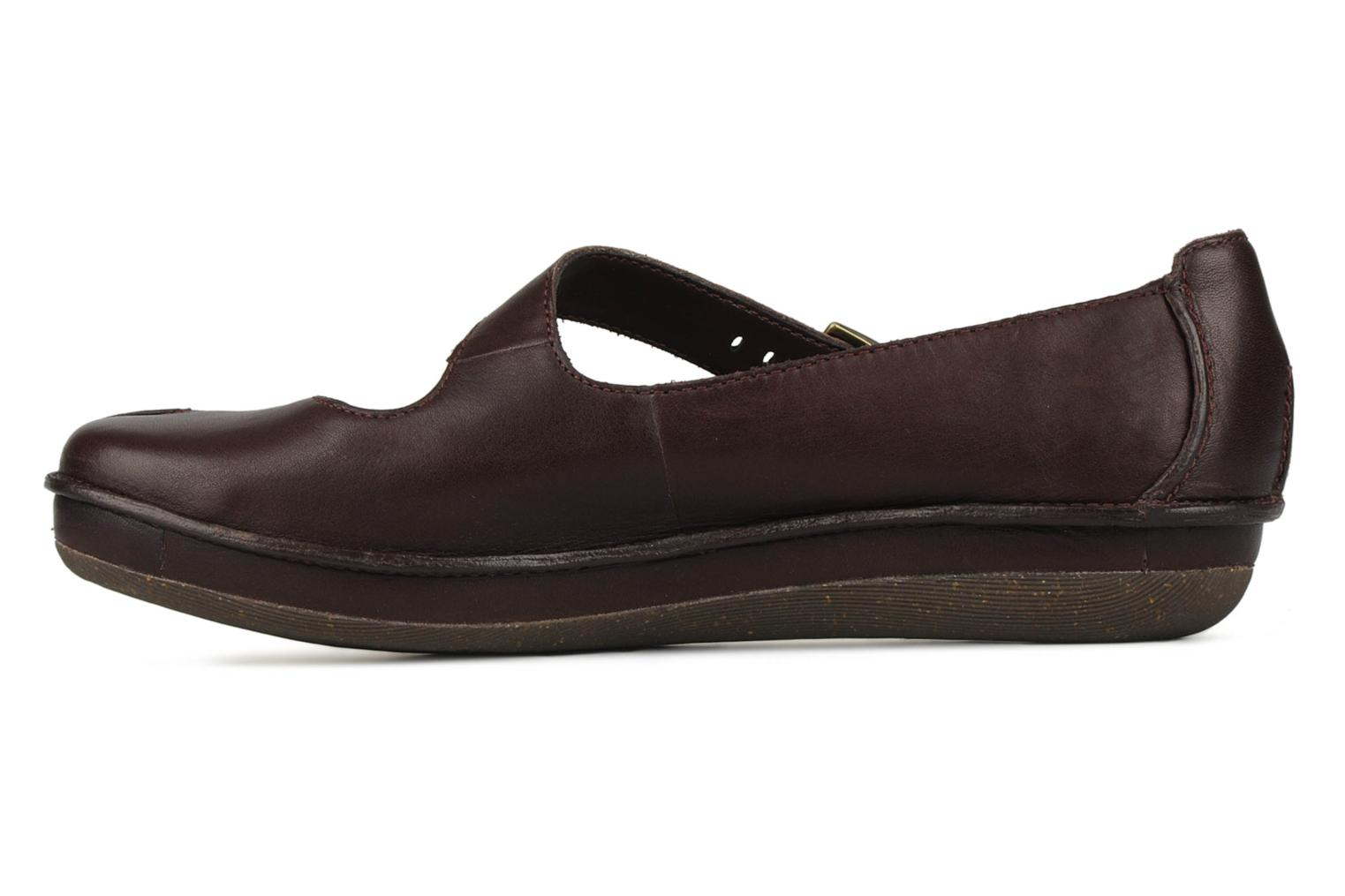 Ballet pumps Clarks Essence chime Brown front view
