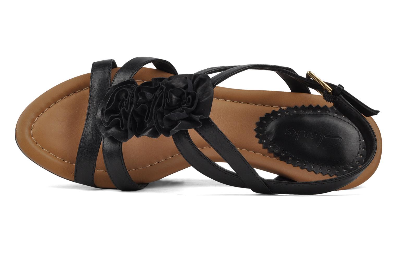 Sandales et nu-pieds Clarks Santa rock Noir vue gauche