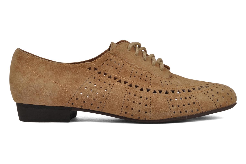 Chaussures à lacets Jeffrey Campbell Miller Beige vue derrière