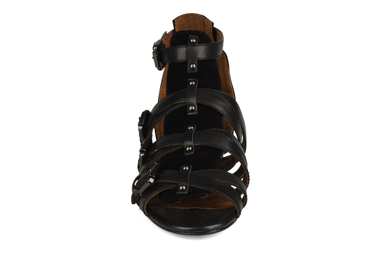 Sandales et nu-pieds Friis & company Varinka Noir vue portées chaussures