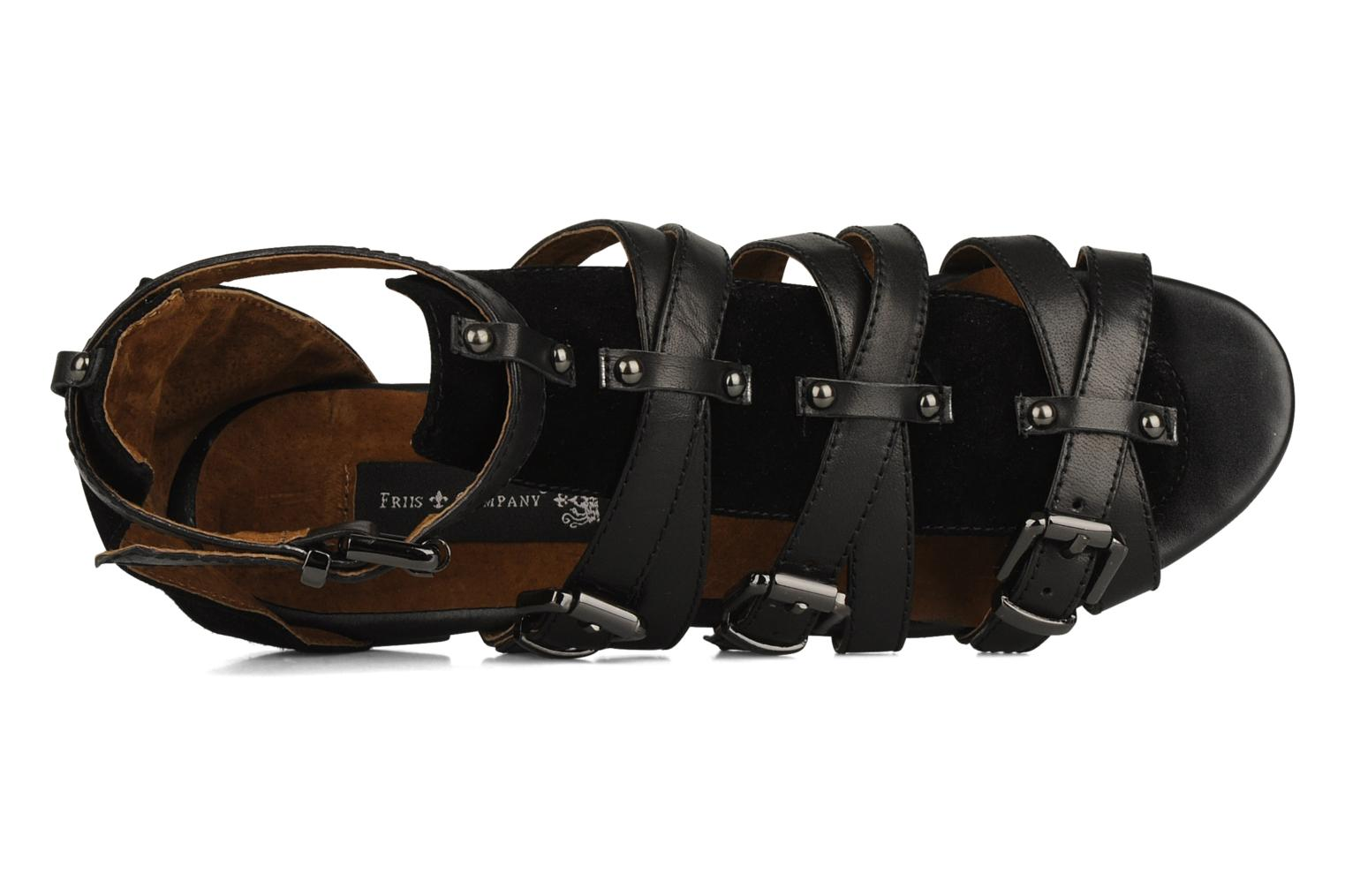 Sandals Friis & company Varinka Black view from the left