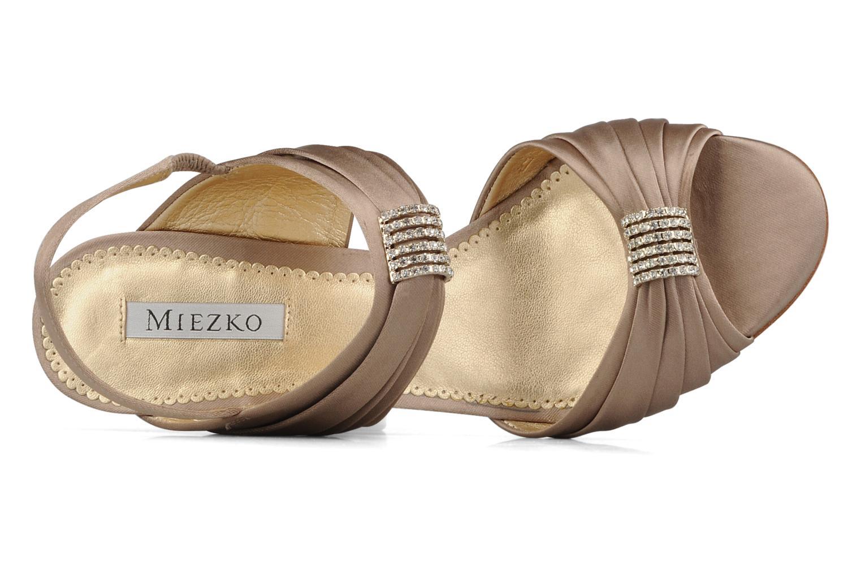 Sandales et nu-pieds Miezko Rebecca Beige vue gauche