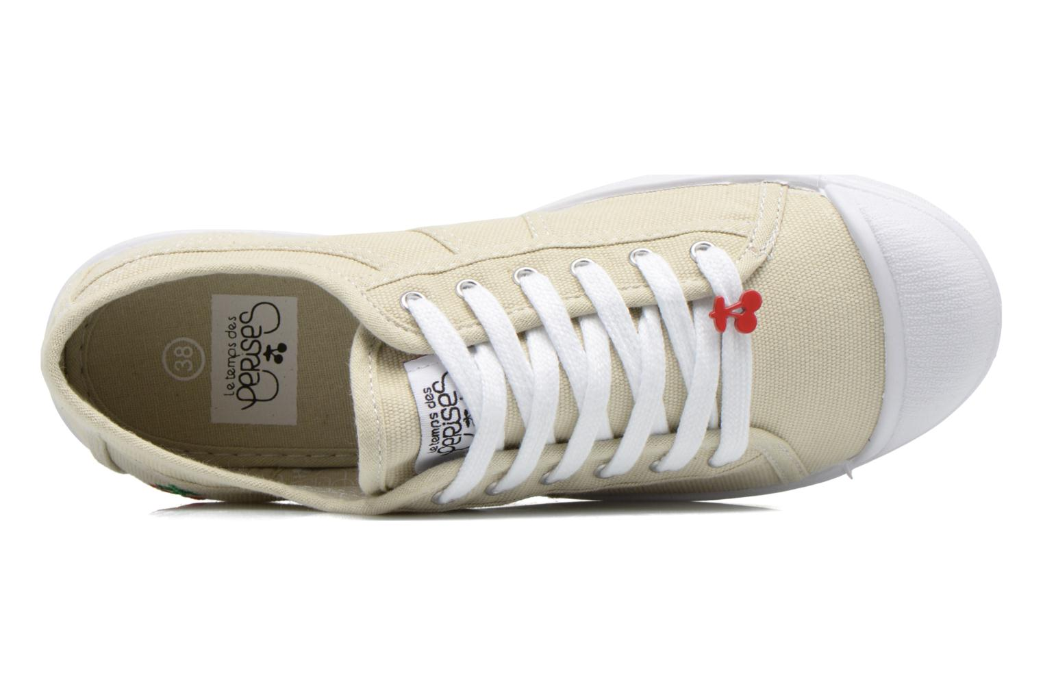 Trainers Le temps des cerises Basic 02 Beige view from the left