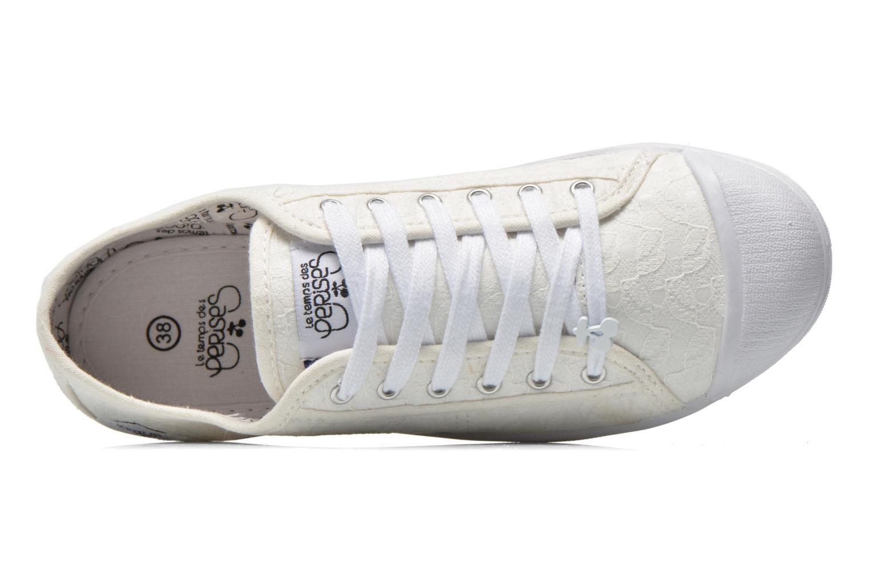Sneakers Le temps des cerises Basic 02 Wit links