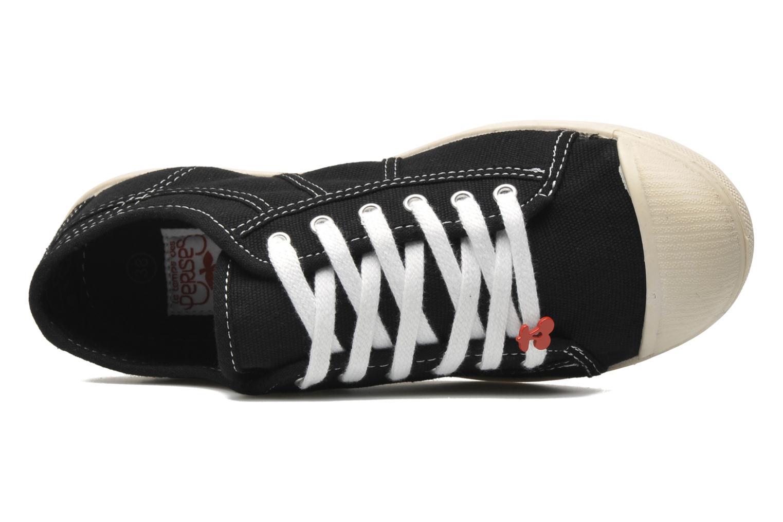 Sneakers Le temps des cerises Basic 02 Zwart links