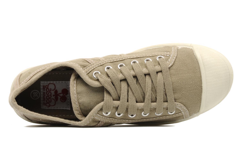 Sneaker Le temps des cerises Basic 02 beige ansicht von links
