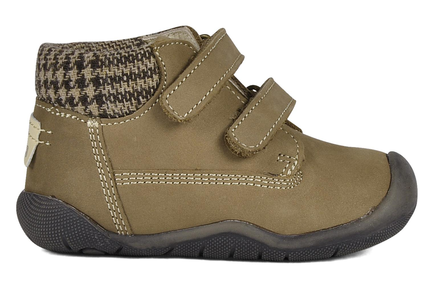 Velcro shoes Chicco Guapito Brown back view