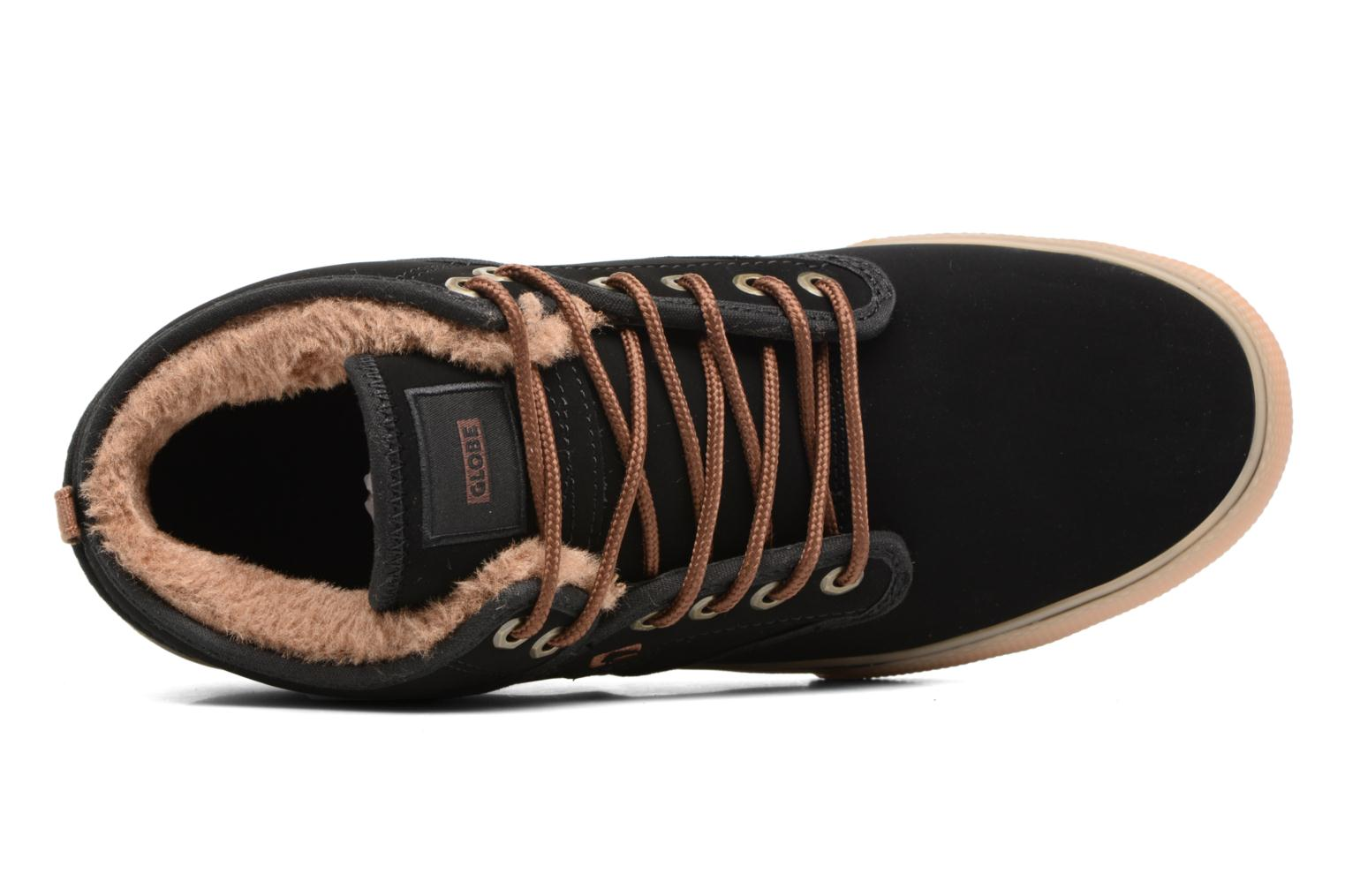 Sport shoes Globe Motley mid Black view from the left