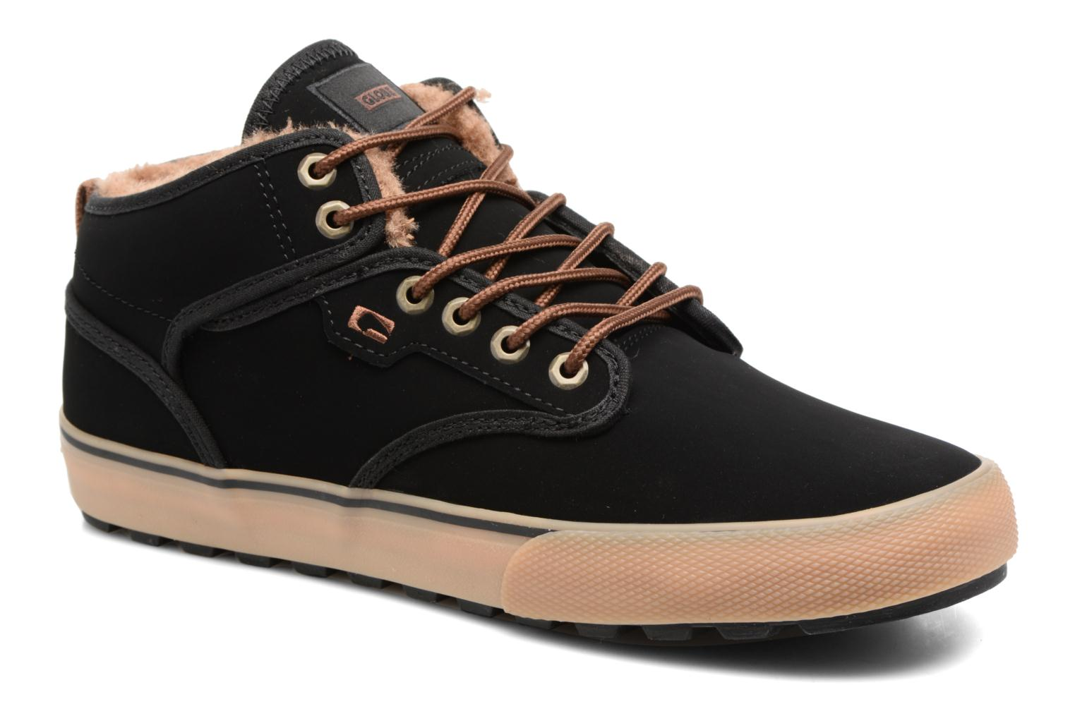 Sport shoes Globe Motley mid Black detailed view/ Pair view