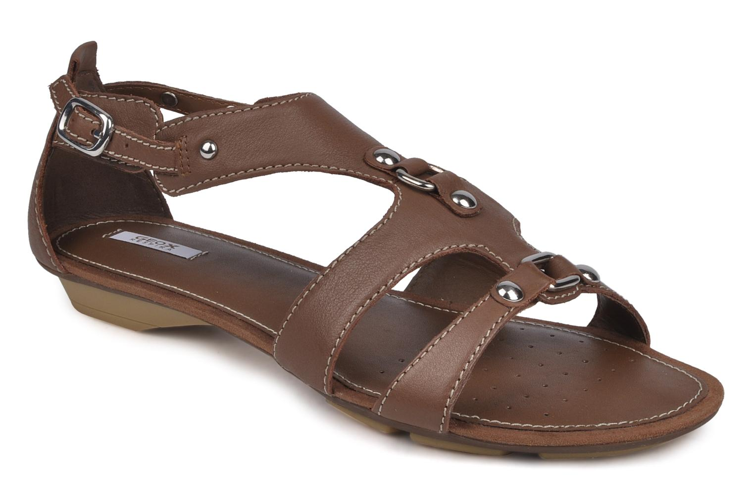 Sandals Geox D felisa b Brown detailed view/ Pair view