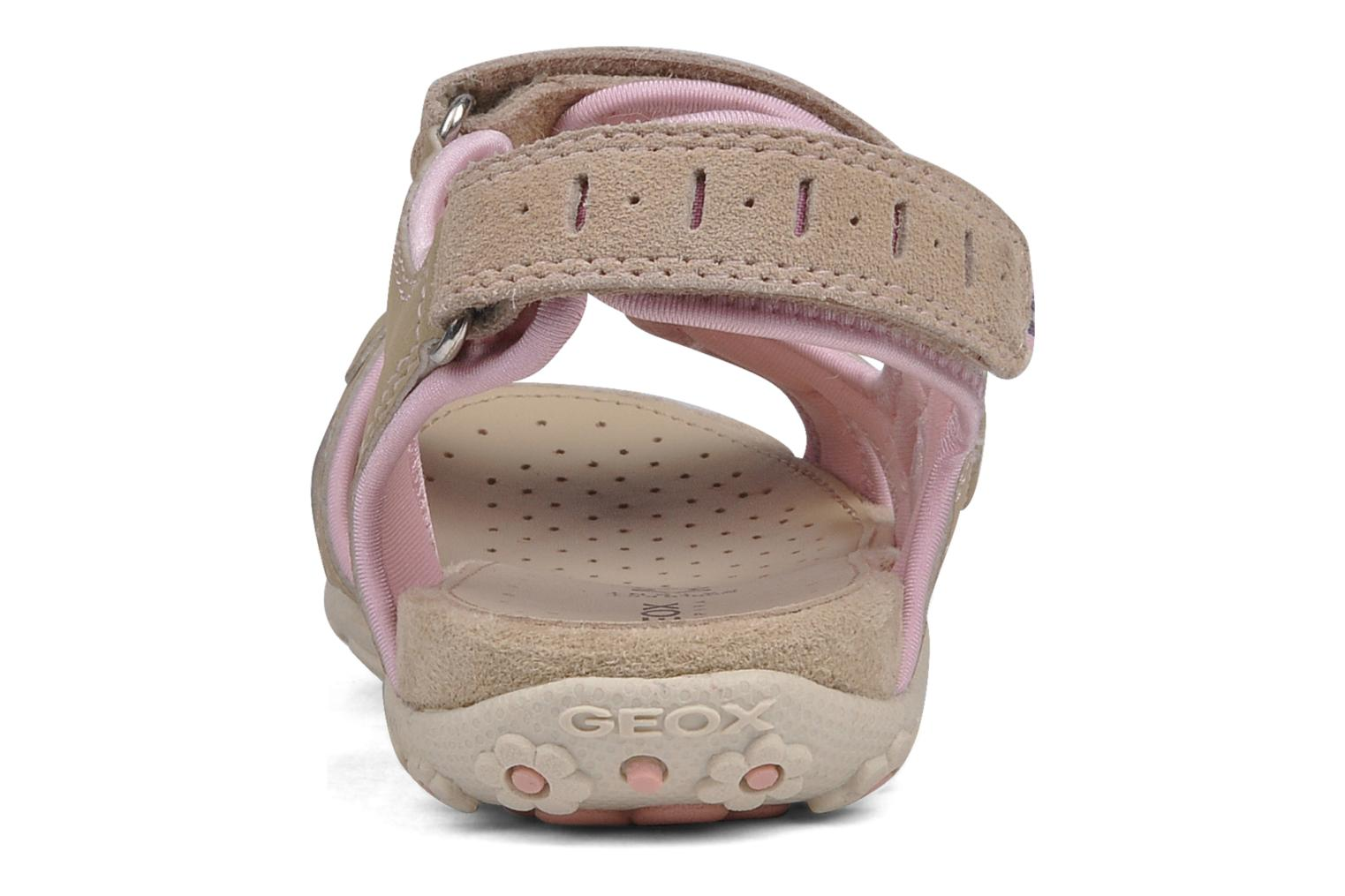 Sport shoes Geox J s.roxanne r Beige view from the right