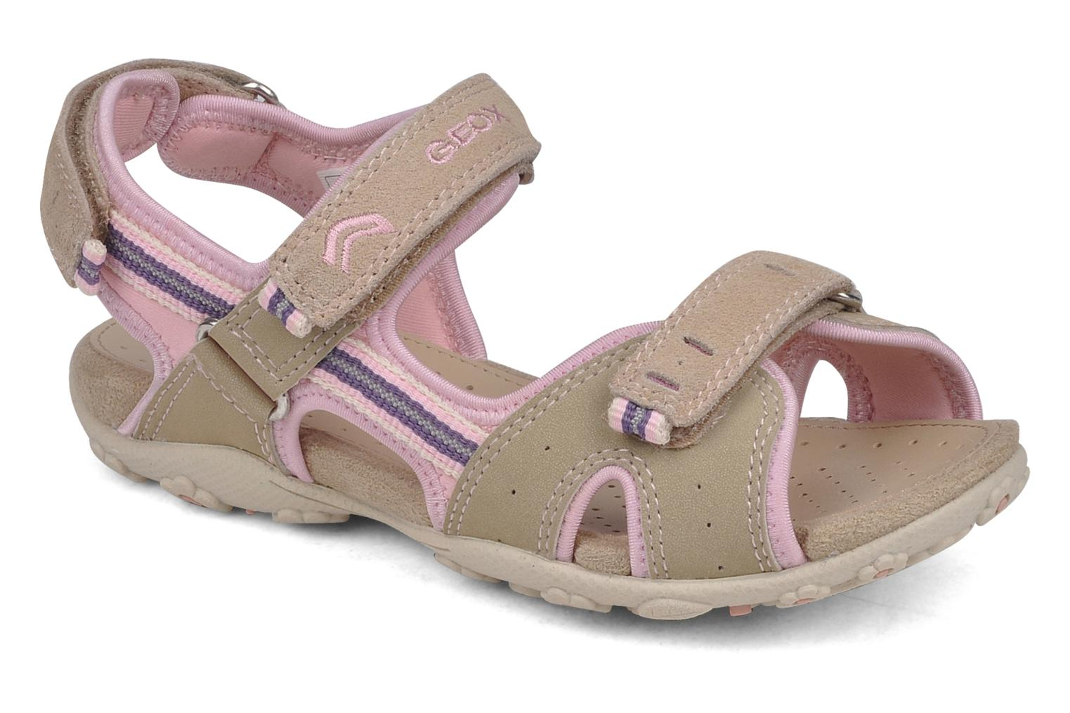 Sport shoes Geox J s.roxanne r Beige detailed view/ Pair view