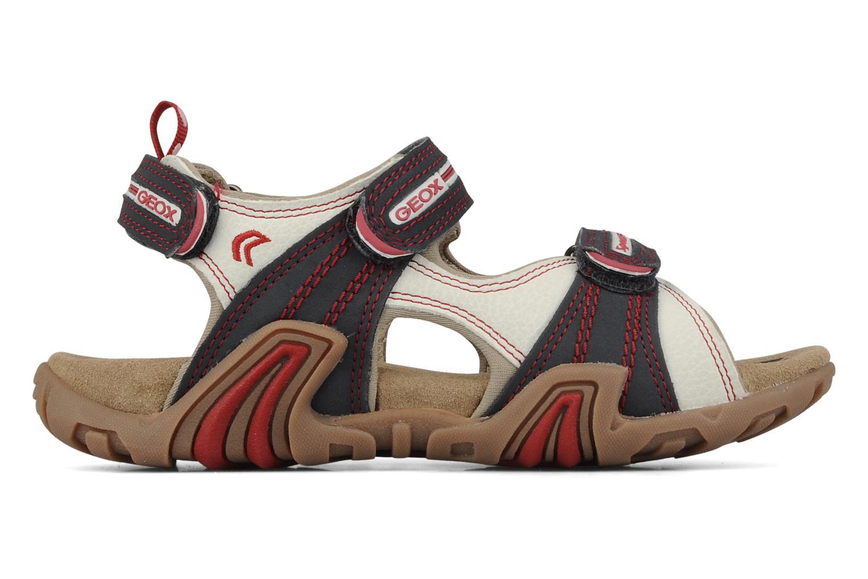 Sport shoes Geox J s.safari m White back view