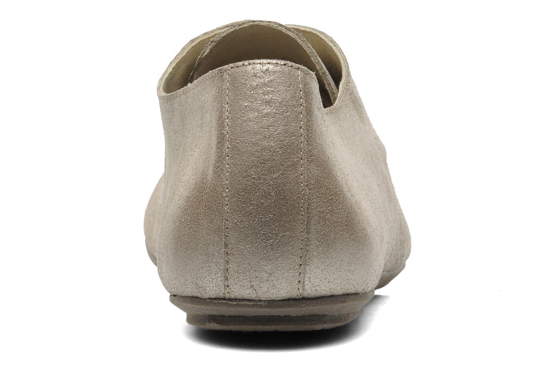 Zapatos con cordones Jonak Dacklo Oro y bronce vista lateral derecha