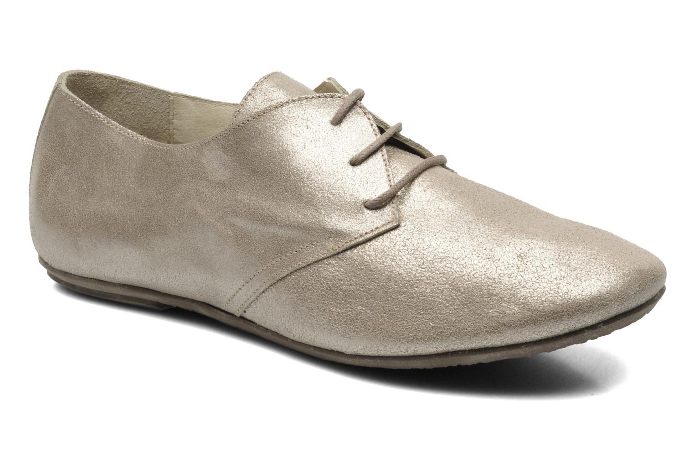 Snøresko Jonak Dacklo Guld og bronze detaljeret billede af skoene