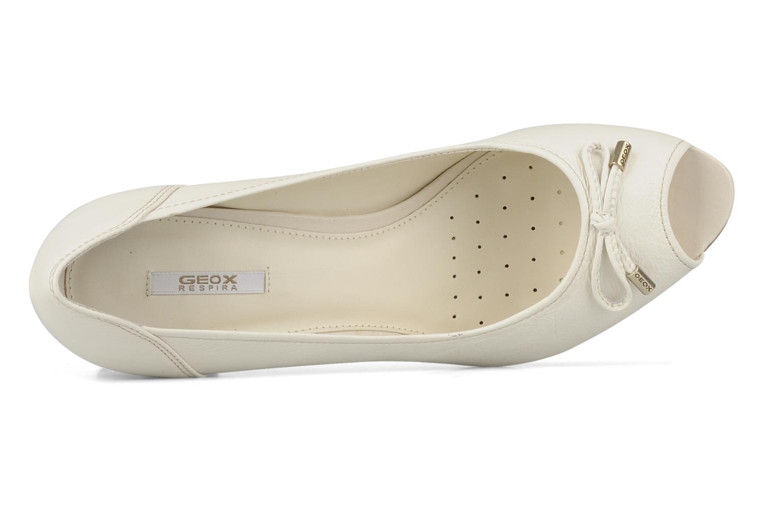High heels Geox D cherie a White view from the left