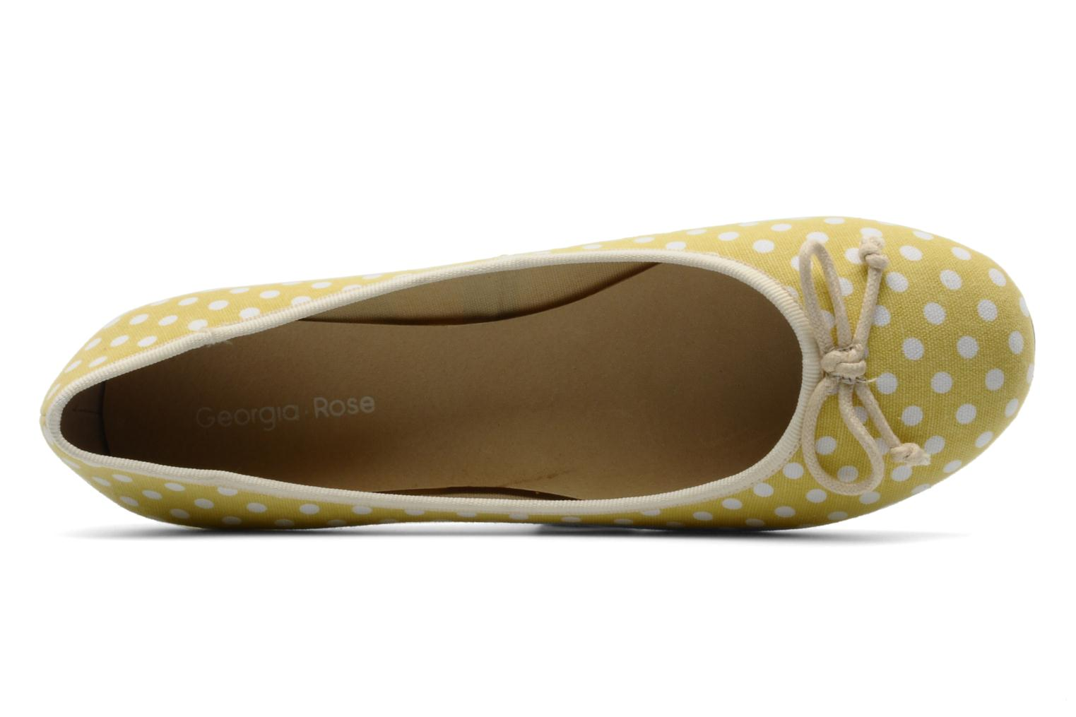 Ballet pumps Georgia Rose Pakita Yellow view from the left