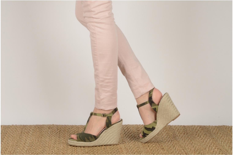 Sandales et nu-pieds Georgia Rose Uly Vert vue bas / vue portée sac