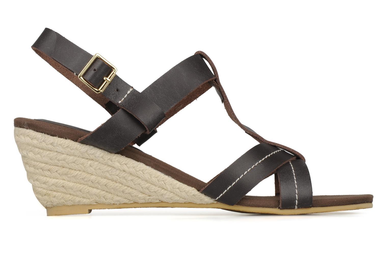 Sandales et nu-pieds Georgia Rose Mirna Marron vue derrière