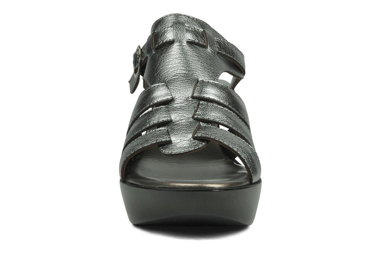 Sandales et nu-pieds Espace Angie Argent vue portées chaussures