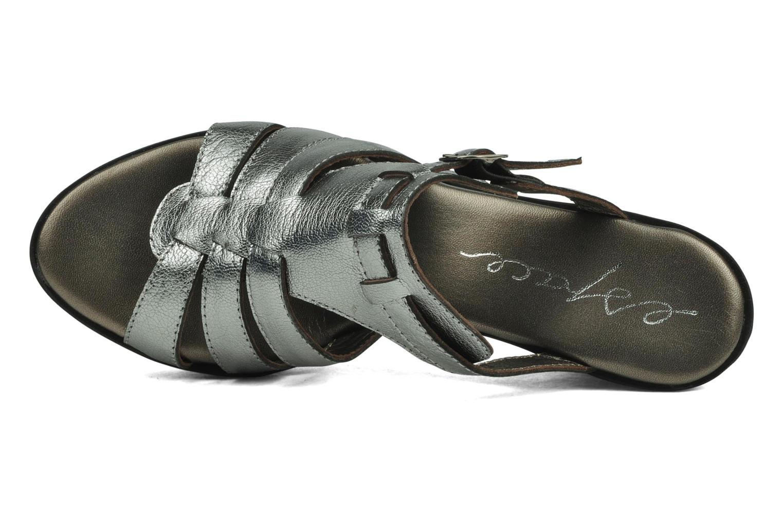 Sandales et nu-pieds Espace Angie Argent vue gauche