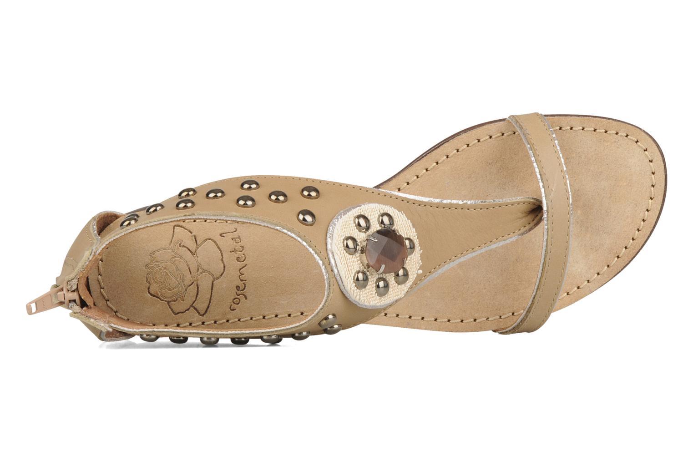 Sandales et nu-pieds Rosemetal Taylor Beige vue gauche