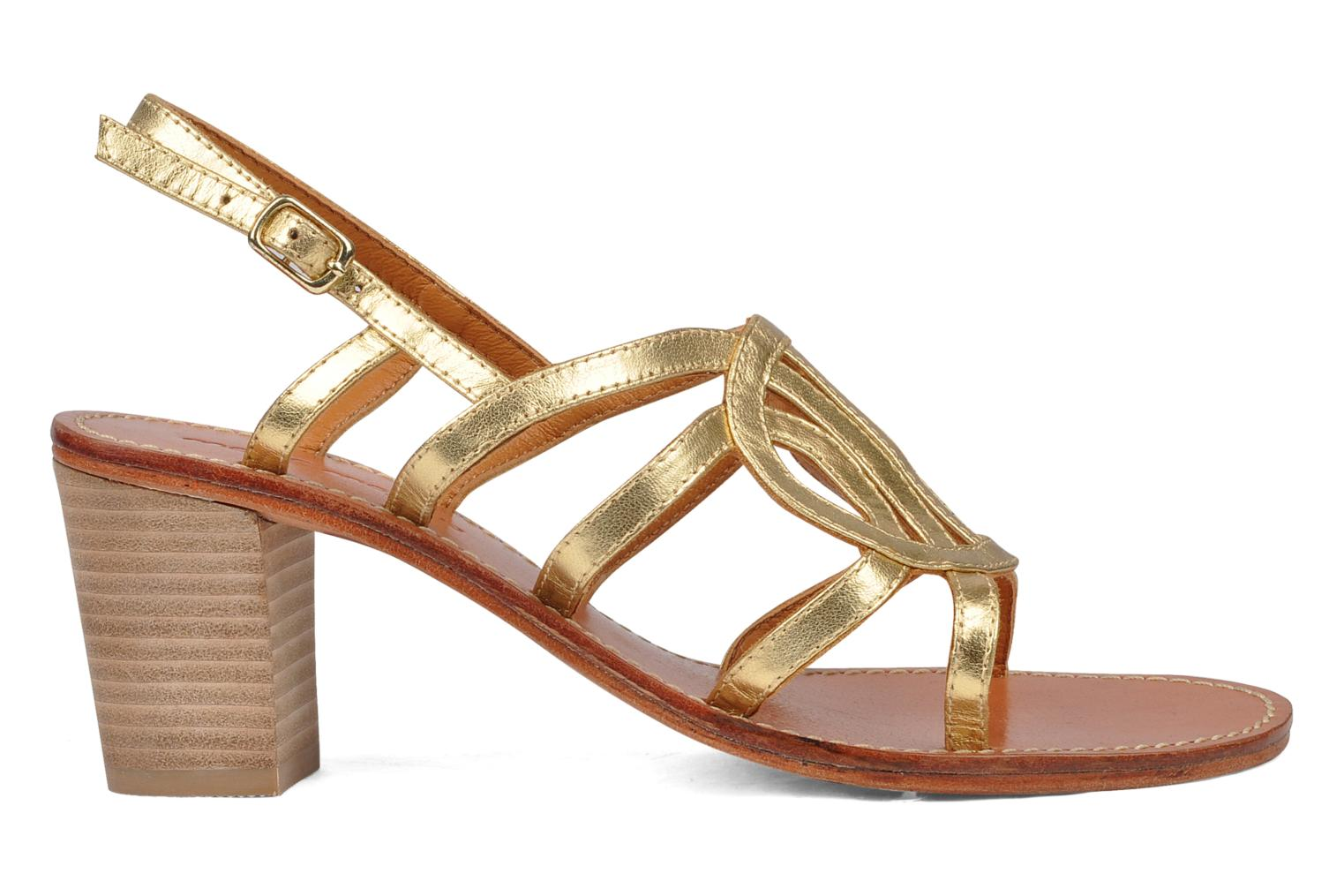 Sandals Mellow Yellow Jargon Bronze and Gold back view