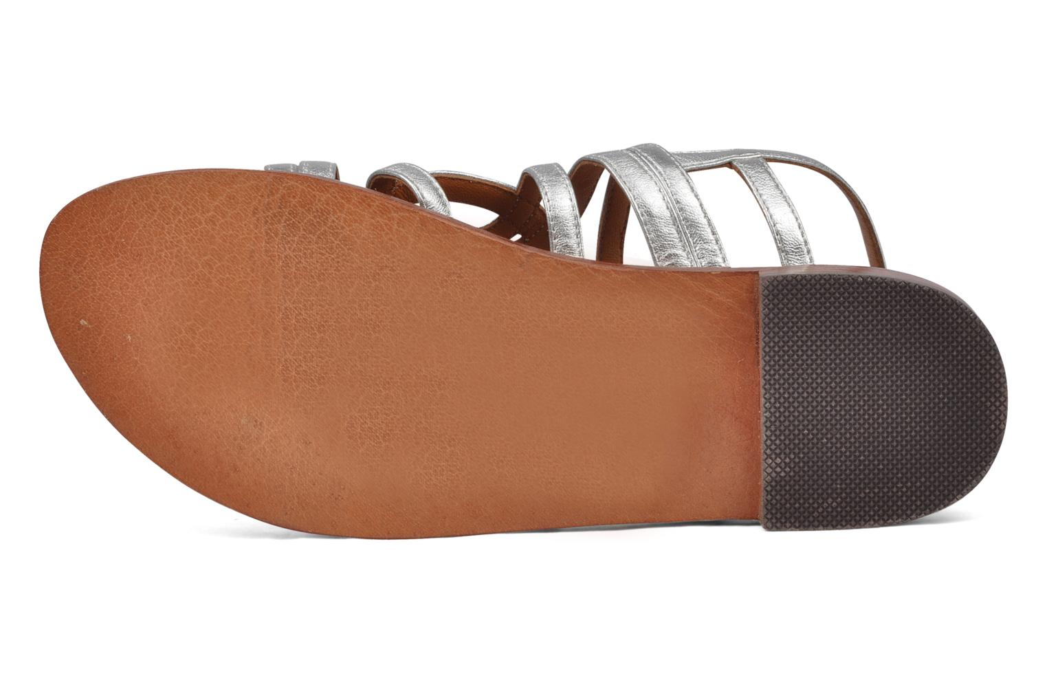 Sandals Mellow Yellow Jortensia Silver view from above