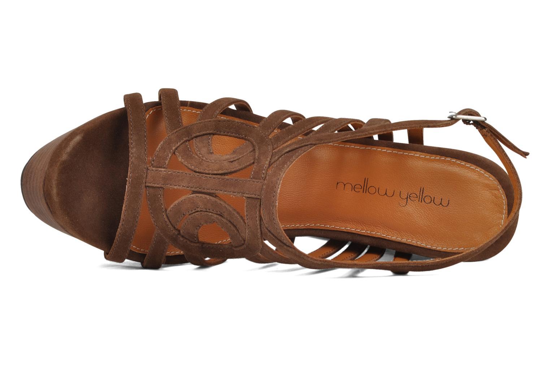 Sandales et nu-pieds Mellow Yellow Jenvy Marron vue gauche