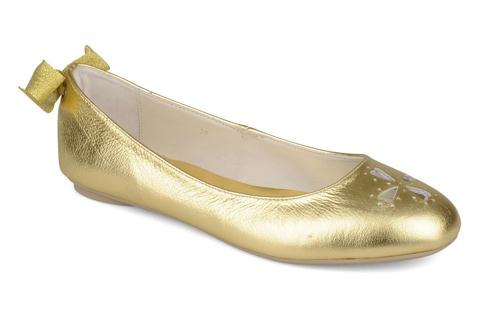 Ballet pumps Mellow Yellow Junior Bronze and Gold detailed view/ Pair view