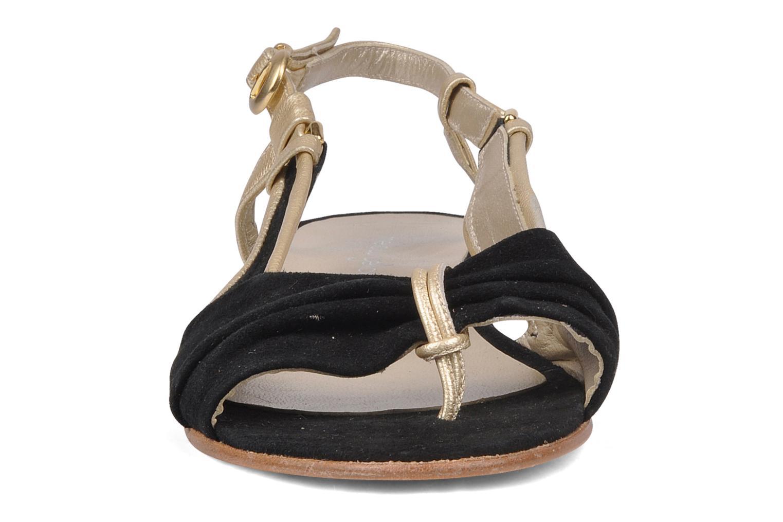 Sandals Mellow Yellow Janette Black model view